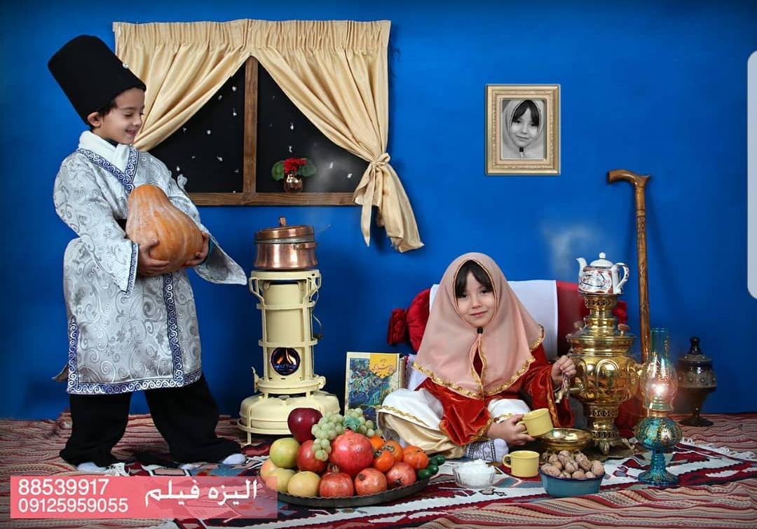 عکس شب یلدا در مدارس سبک قاجاری